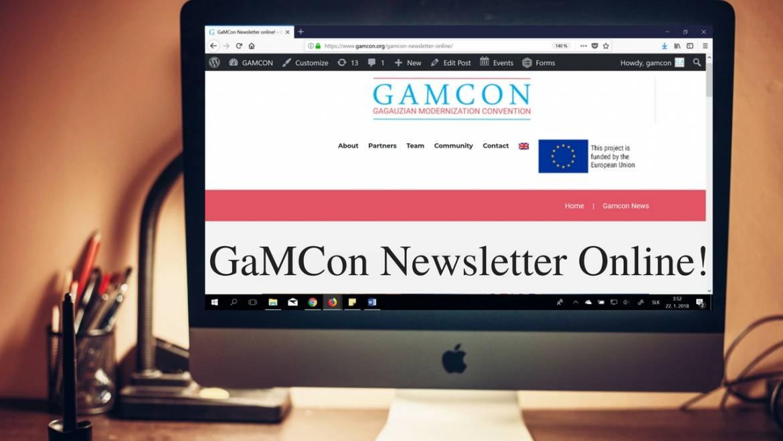 GaMCon Newsletter II. online!